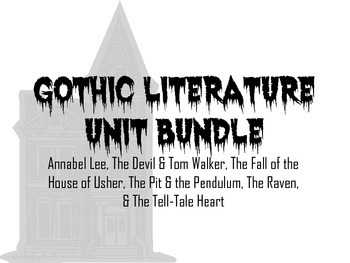 Gothic Literature Product Bundle
