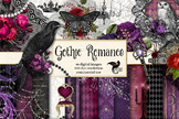 Gothic Romance Digital Scrapbooking Kit, Clipart and Digit