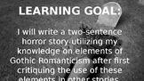 Gothic Romanticism Two-Sentence Horror Story Writing Activity