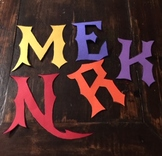 Gothic Style Cut and Paste Alphabet Letters for Bulletin Boards or Posters