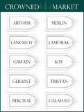 Gothic Window Style Name Tag - 22 Colors