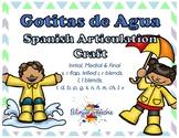 Spring Spanish Articulation - Gotitas de Agua!