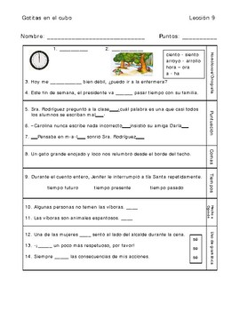 Gotitas en el cubo #9 - Daily Language & Grammar Practice [SLAR] - SPANISH