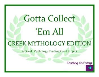 Gotta Collect 'Em All...A Greek Mythology Trading Card Project