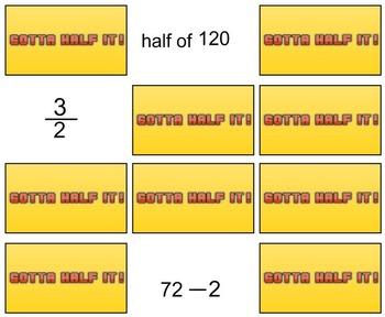 5th Grade SMARTBoard Math Drills: Gotta Half It!