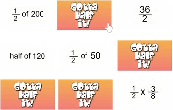 Gotta Half it!  (Mental Math Challenge Video Clips)