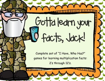 Gotta Know Your Facts, Jack! (multiplication 2 through 12)