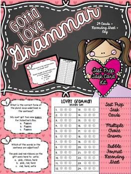 Gotta Love Grammar! 3rd Grade ELA Test Prep Task Card Kit