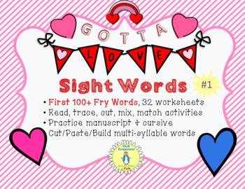 Gotta Love Sight Words #1, FRY First 100 Words