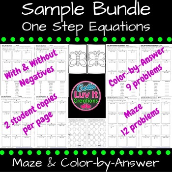 Free Download Color by Number Coloring Page & Maze Sampler Solving Equations