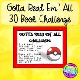 Gotta Read Em All 30 Book Challenge Themed Book Log
