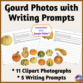 Gourd Photographs and Writing Prompts in Printable & Googl