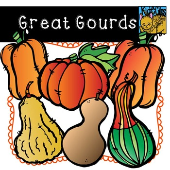Gourd and Pumpkin Clip Art for Fall by Kid-E-Clips Commercial and Personal