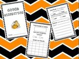Pumpkin Science Investigation Book