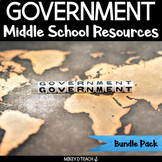 Government Activities for Middle School Social Studies and Literacy BUNDLE