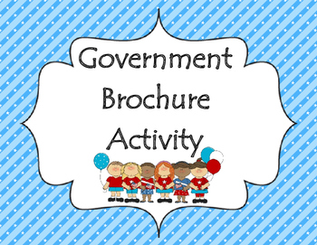 Branches of Government Brochure- Social Studies