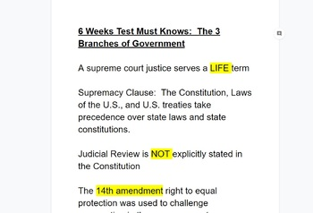 Government - 3 Branches Must Knows