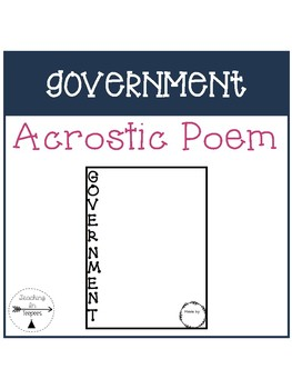 Government Acrostic Poem Template