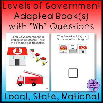 Government Adapted Book with Comprehension Checks Autism and Special Education