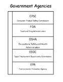 Government Agencies Interactive Notebook - VA SOL CE 13c