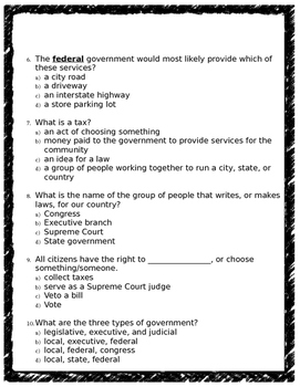Government Assessment (editable)
