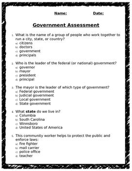 Government Assessment (editable)
