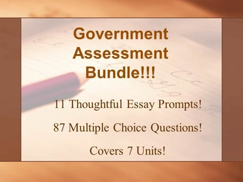Government Assessments Bundle