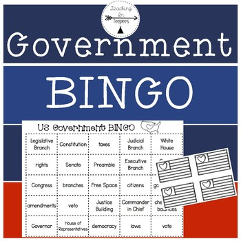 Government Bingo- Third Grade Social Studies