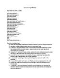 Government Budget Worksheet