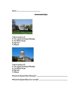 Government Buildings Quiz