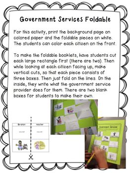 Government Bundle- Meaningful foldables, printables, and activities!