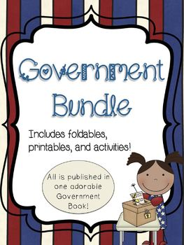 Government Bundle- Meaningful foldables, printables, and a