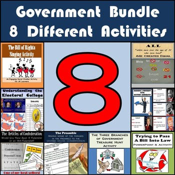 Government Bundle: Preamble, Articles of Confederation, Electoral College & More
