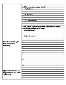 Government: Chp 1 Cornell Notes