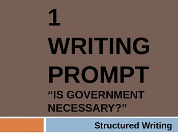 Government: Chp 1 Essay prompt: Is government necessary