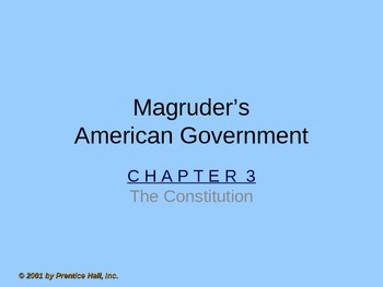 Government: Chp 3 The Constitution PPT