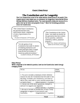 Government: Chp 3 essay prompt: Government's longevity