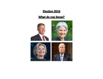 Government & Civics - Election 2016 - What do you know?