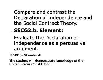 Government Civics Standards Georgia High School Printable