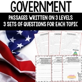 Government Reading Passages and Questions - Distance Learning