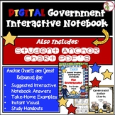 Government DIGITAL Interactive Notebook AND FREE Anchor Chart PDF's