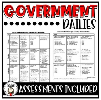 Government Dailies - (Warm Ups) Bundle
