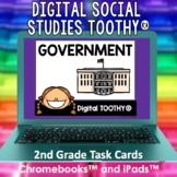 Government Digital Social Studies Toothy® Task Cards | Dig