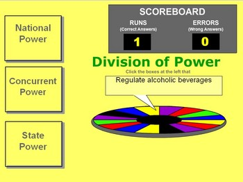 Government - Division of Powers Game - Bill Burton