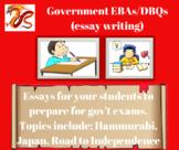 Government EBAs/DBQs (writing essays)