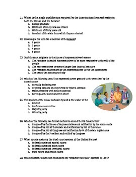 Government EOC Review Test Prep