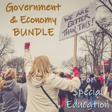Government & Economic Systems BUNDLE for Special Education