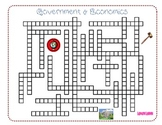 Government & Economics Crossword Puzzle