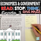 Government & Economics Reading Passages 3rd Grade Including Inauguration Day