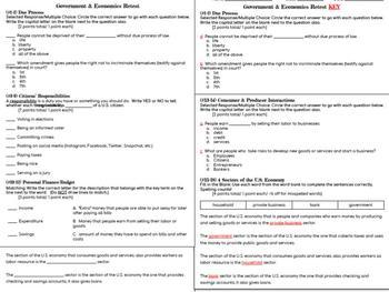 Government & Economics Study Guide & Tests - 5th Grade Social Studies
